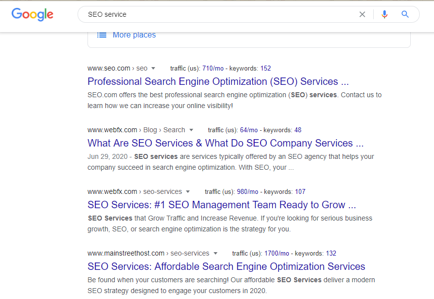example-when-you-search-SEO-service-on-google